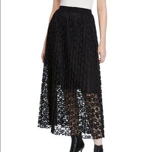 Romeo and Juliet couture pleated lace maxi skirt
